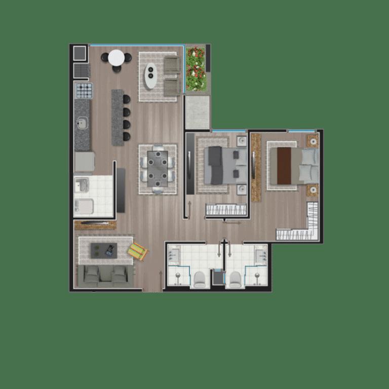Apartamento tipo 12
