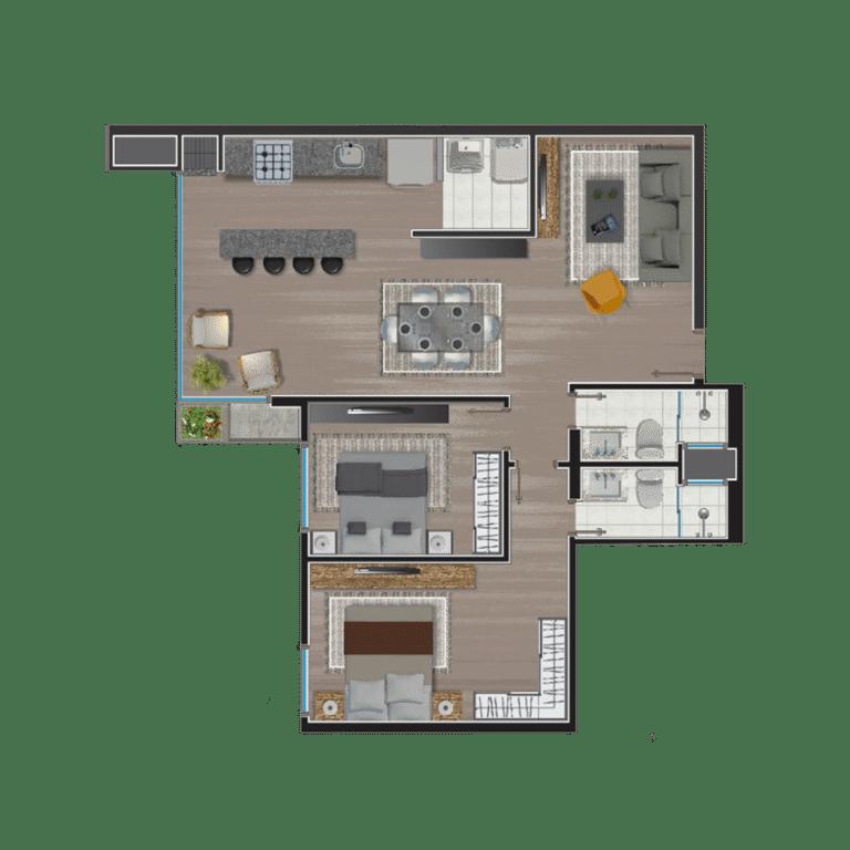Apartamento tipo 13