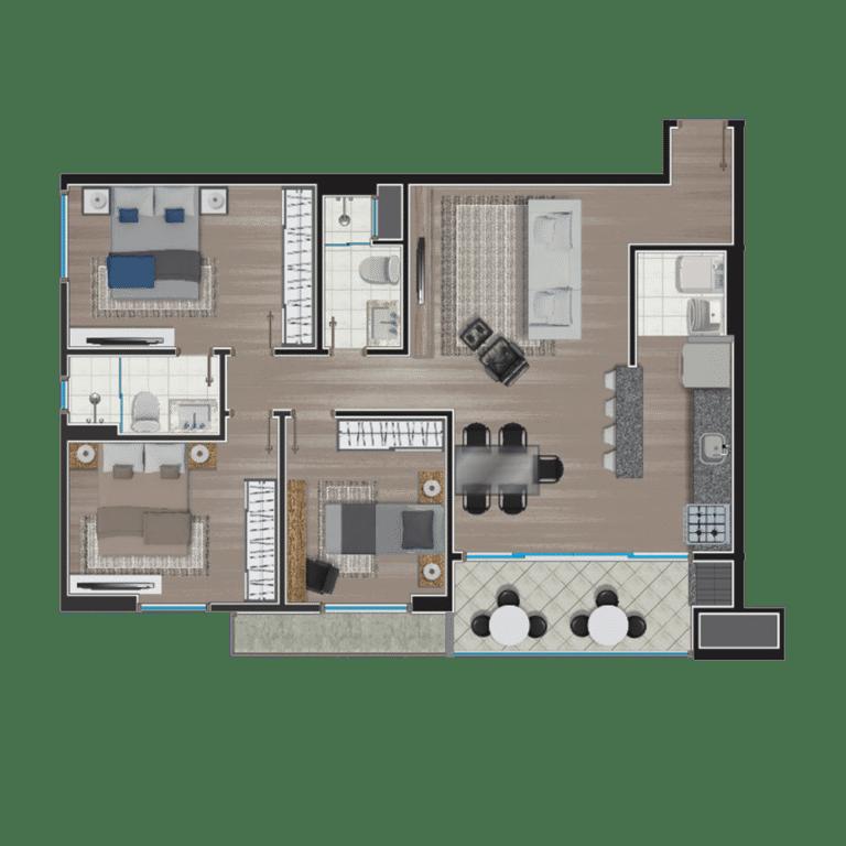 Apartamento tipo 14