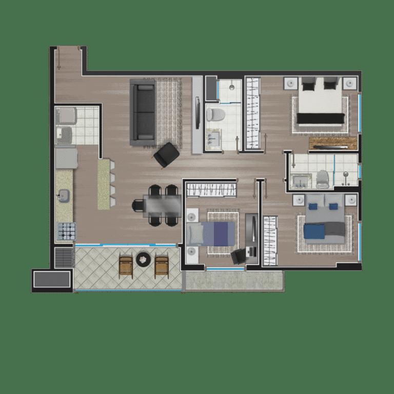 Apartamento tipo 15
